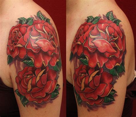 best thing to put on a new tattoo roses by robert hendrickson tattoos