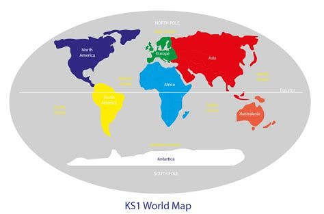 map world ks1 ks1 world map with continents visit out website www