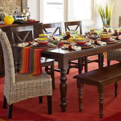 Pier One Dining Room Tables by Build Your Own Torrance Mahogany Brown Turned Leg Dining