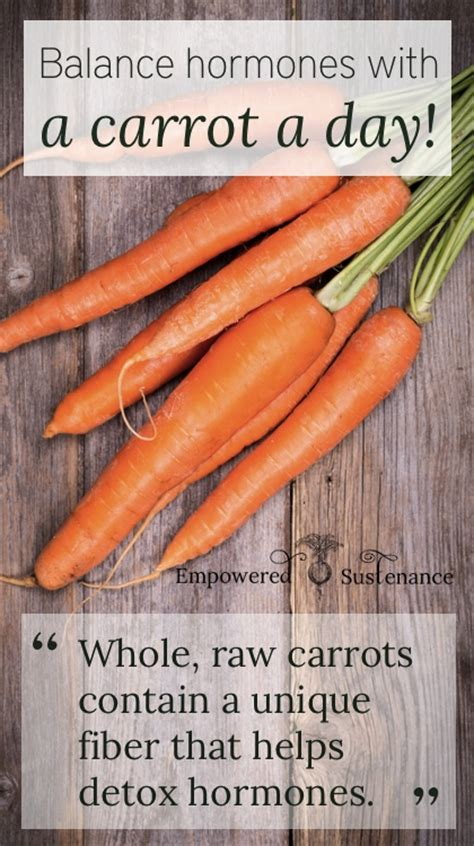 Detox Diet For Hormone Imbalance by Balance Hormones With A Carrot A Day