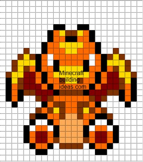 the gallery for gt pixel art templates pokemon charmander