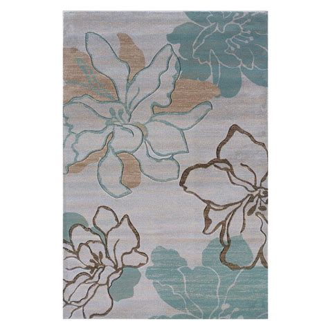 linon home decor milan collection brown and turquoise 5 ft linon home decor milan collection ivory and turquoise 8 ft