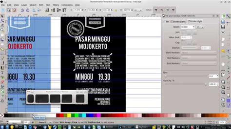 membuat bingkai poster sederhana tutorial inkscape 6 desain poster sederhana youtube