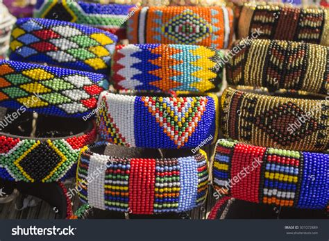 Handmade In Africa - local craft market south africa unique stock photo