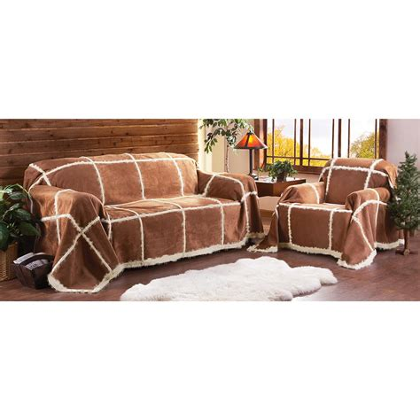 loveseat throw outback synthetic shearling throw 166823 furniture