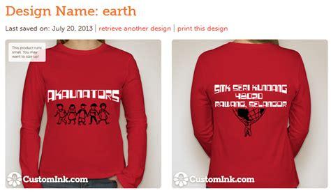 design baju kelas online enthusiastic rekaan baju kelas kami