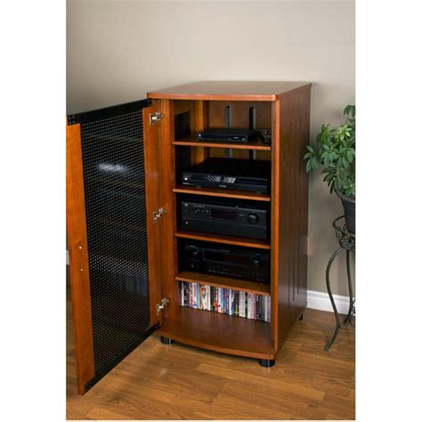 Audio Component Cabinet by Home Theater Equipment Rack That S One Rack Home
