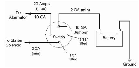 battery cutoff switch wiring diagram battery master switch wiring diagram wiring diagram and