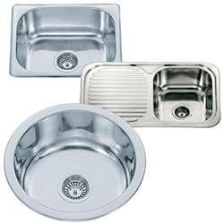 small top mount inset stainless steel kitchen sinks with waste kits fittings ebay