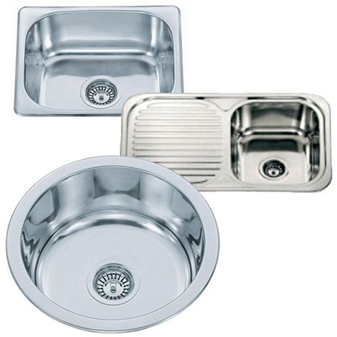kitchen sink waste fittings small top mount inset stainless steel kitchen sinks with waste kits fittings ebay