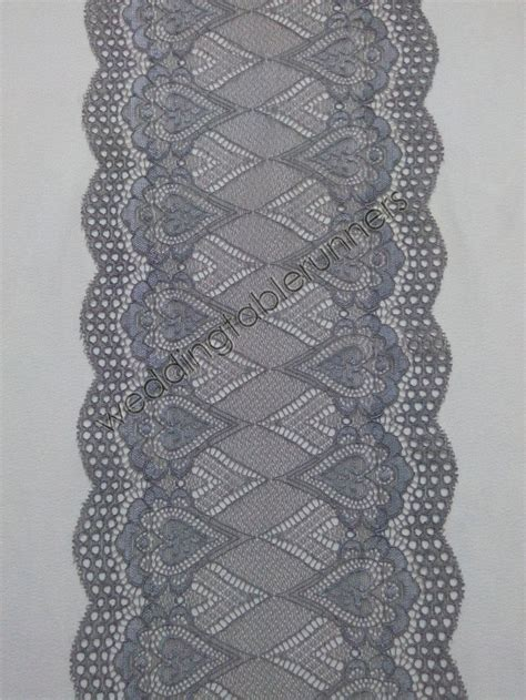 grey lace table runner 7 wedding table runner gray