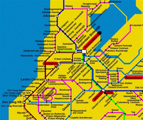 netherlands rail network map tourist in paradise the netherlands amsterdam introduction