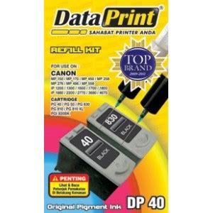 Tinta Suntik Canon Merek Dataprint Dp 40 jual tinta suntik dataprint hitam dp40 printer canon
