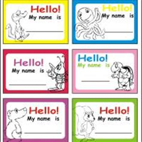 printable zoo animal name tags nametags