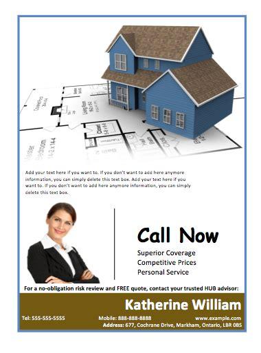 real estate agent portfolio flyer template  template