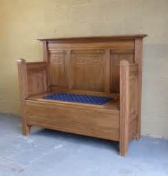 oak bench with storage antiques atlas oak settle bench with storage