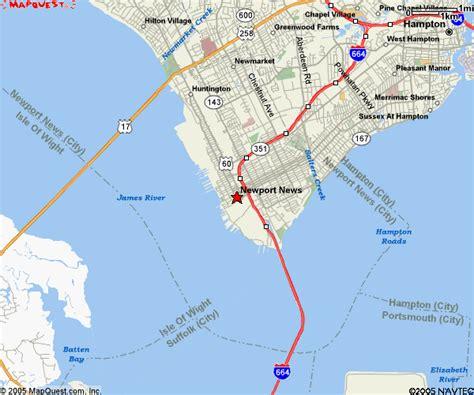 Newport News Va Property Records Newport News Virginia Map