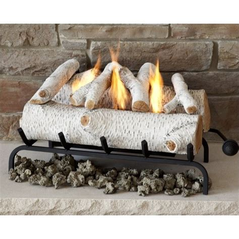 real 24 inch conversion birch log set for gel fuel