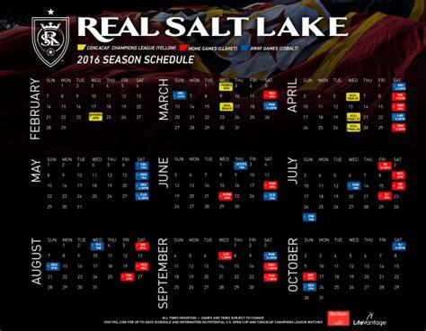 real salt lake unveils 2016 regular season schedule