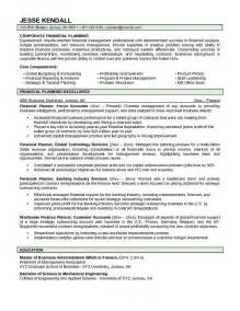 Financial Advisor Resume Exles by Financial Advisor Resume Best Business Template