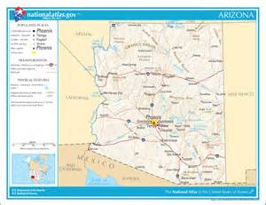 map of arizona for arizona facts national parks landmarks and pictures
