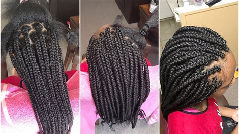 how to braid neat how to do how box braids are done neat and easy