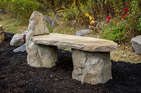 the rock benching garden bench basalt stone boulder bench with back cast