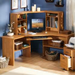 Desktop Hutches Southshore Prairie Corner Desk Espresso Traditional