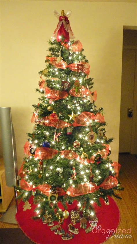the organized how to decorate a tree with wide mesh ribbon