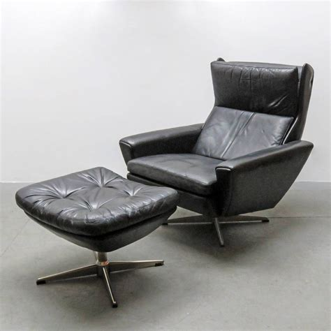 Lounge Chair With Ottoman Georg Thams Leather Lounge Chair With Ottoman At 1stdibs