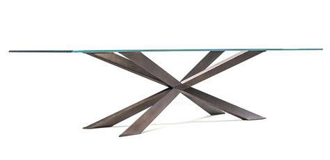 base tavolo cristallo tavolo vetro speed con base inox ufficiostile