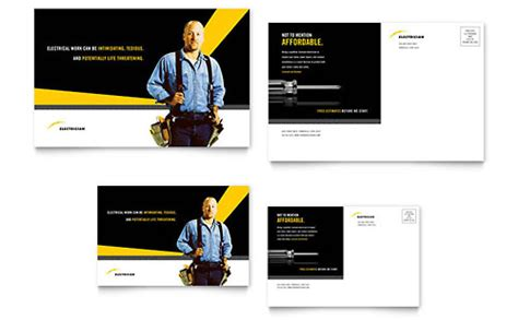brochure templates electrical electrician brochure template word publisher