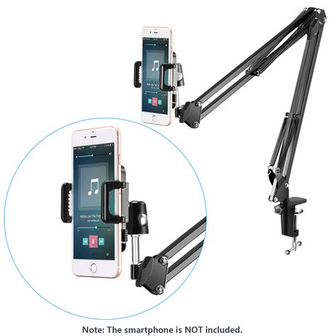 Stand Microphone Table With Smartphone Holder neewer universal microphone stand kit for smartphone