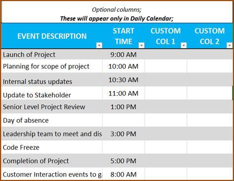 Custom Calendar Maker Event Calendar Maker Excel Template V3 Support