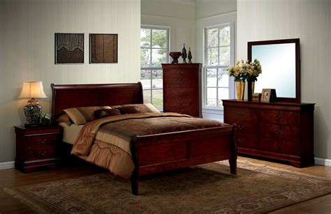 bordeaux louis philippe style bedroom furniture collection louis philippe iii cherry panel bedroom set