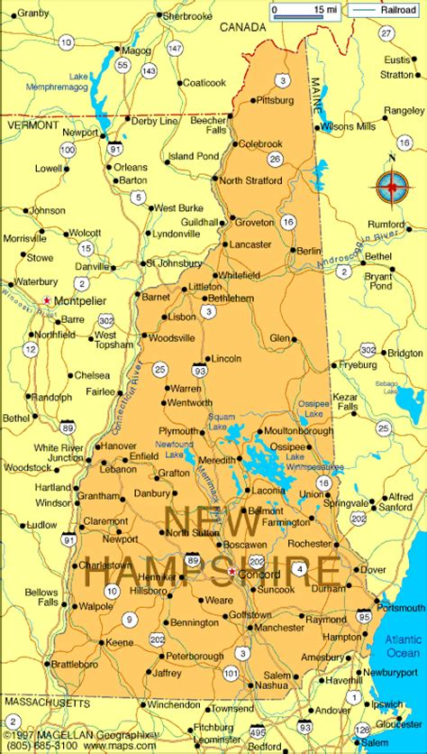 unh map map of new hshire