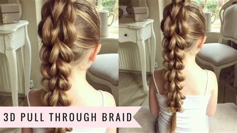 hairstyle design youtube the 3d pull through braid by sweethearts hair youtube
