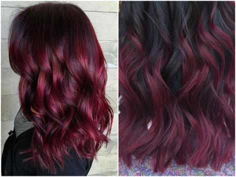 burgendy color 60 burgundy hair color ideas maroon purple plum