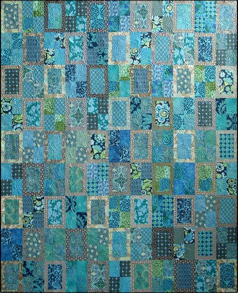 Set 2in1 Sabrina Batik teals browns quilts on quilts square quilt and rail fence quilt