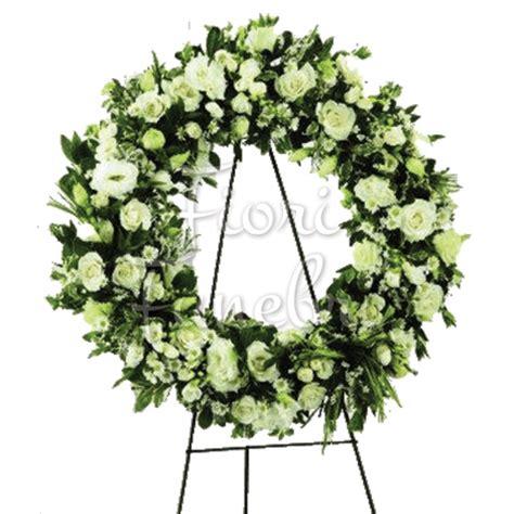 fiori funebri corona funebre di fiori bianchi fiori funerale