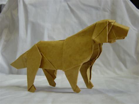 origami golden retriever origami on origami doberman pinscher and