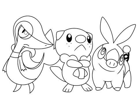 pokemon coloring pages of snivy pokemon snivy tepig oshawott coloring pages pokemon