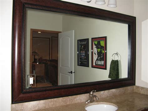 Frame A Bathroom Mirror Beautiful And Mirror Frame Kits Traditional Bathroom Salt Lake City By Reflected