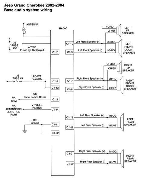 1999 jeep grand radio wiring diagram wiring