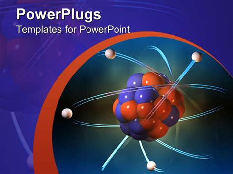 atom themes free download powerpoint template atom electrons science blue and
