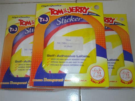 Sale Tom And Jerry 121 Transparan jual sticker label transparan transparent tom and jerry