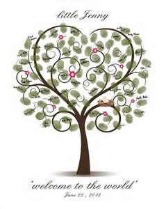 baby shower fingerprint tree printable digital
