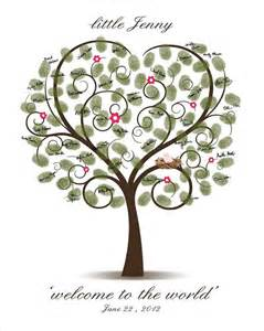 Baby shower fingerprint tree printable digital thumbprint tree baby