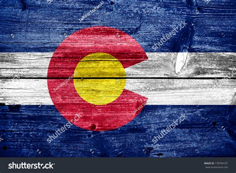 colorado woodworking colorado state flag painted on stock illustration