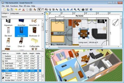Home Design Interior Software by Sweet Home 3d Free Interior Design Software For Windows